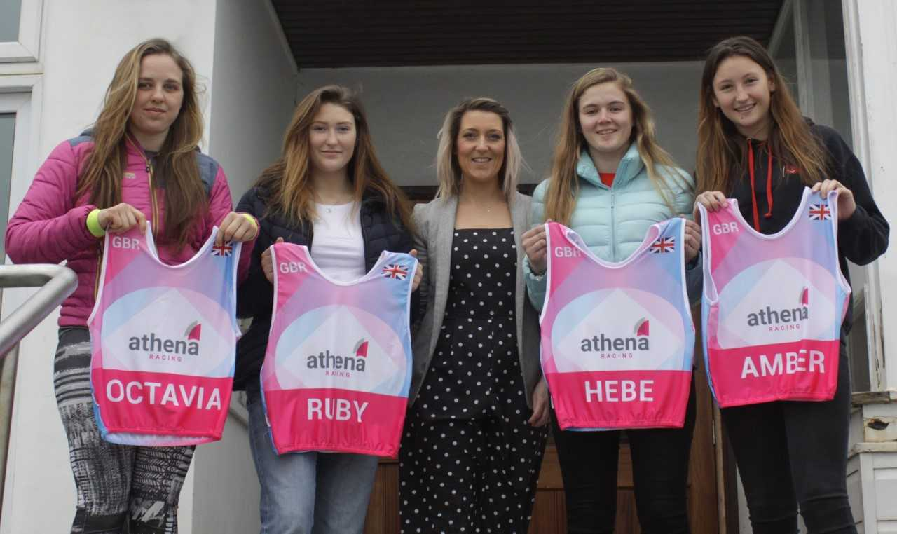 The Athena Racing team with The Loft creative director Becki Wilson