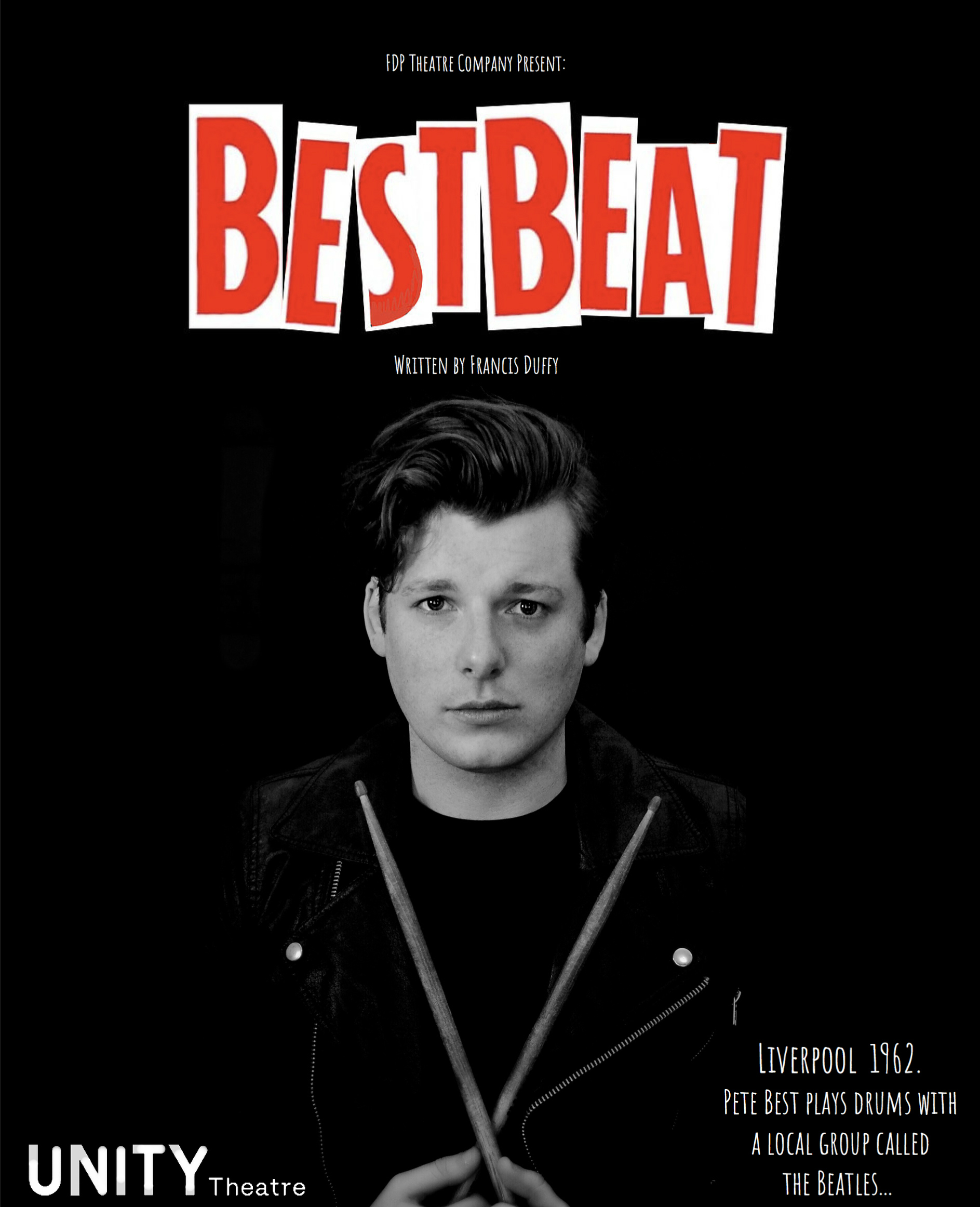 Andrew Games as Pete Best on show poster