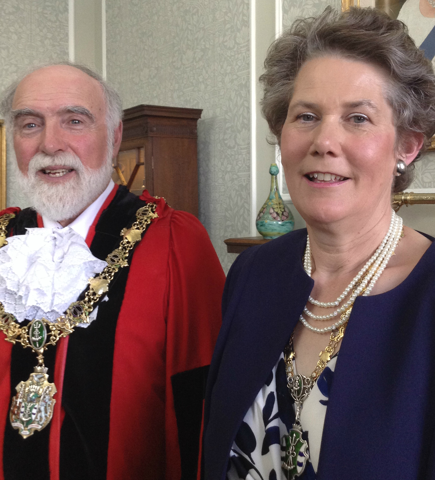 Borough's new Mayor and mayoress Geoffrey and Anne Watt on Monday night. Picture: Craig Manning