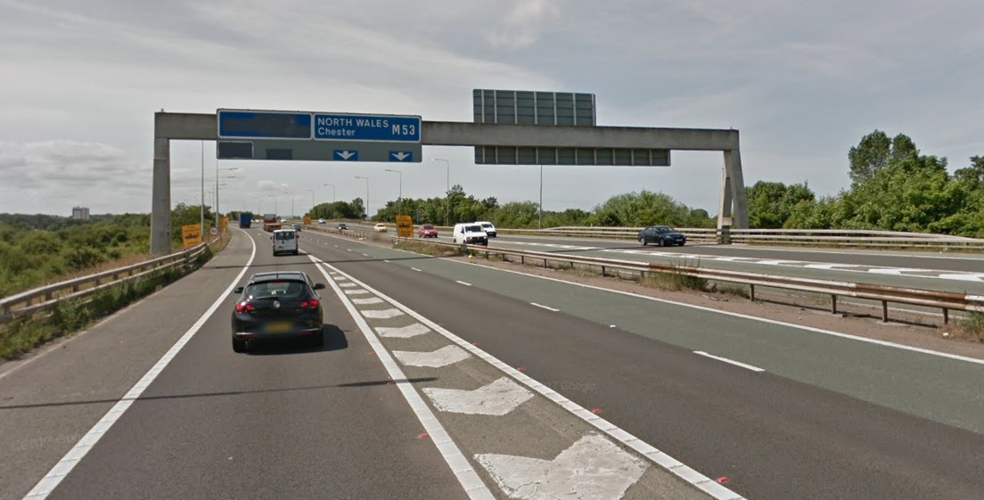 Police have received reports of the man cycling on the hard shoulder