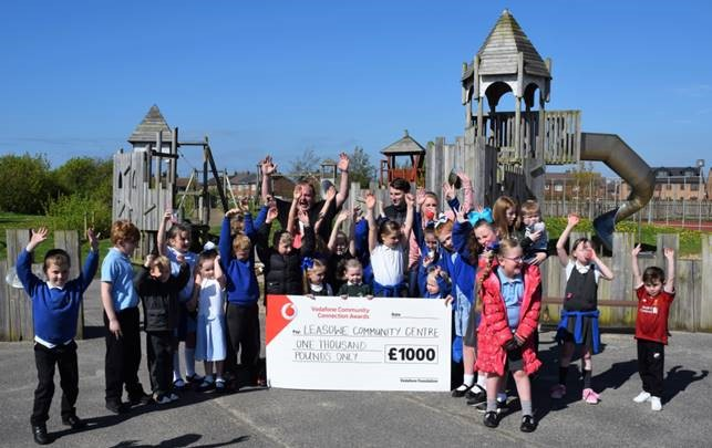 Leasowe Community Centre with its £1000 donation from Vodafone