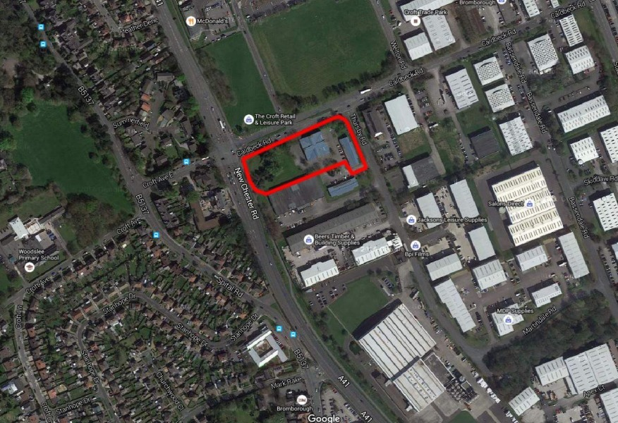 The proposed site in Bromborough for the Lidl store