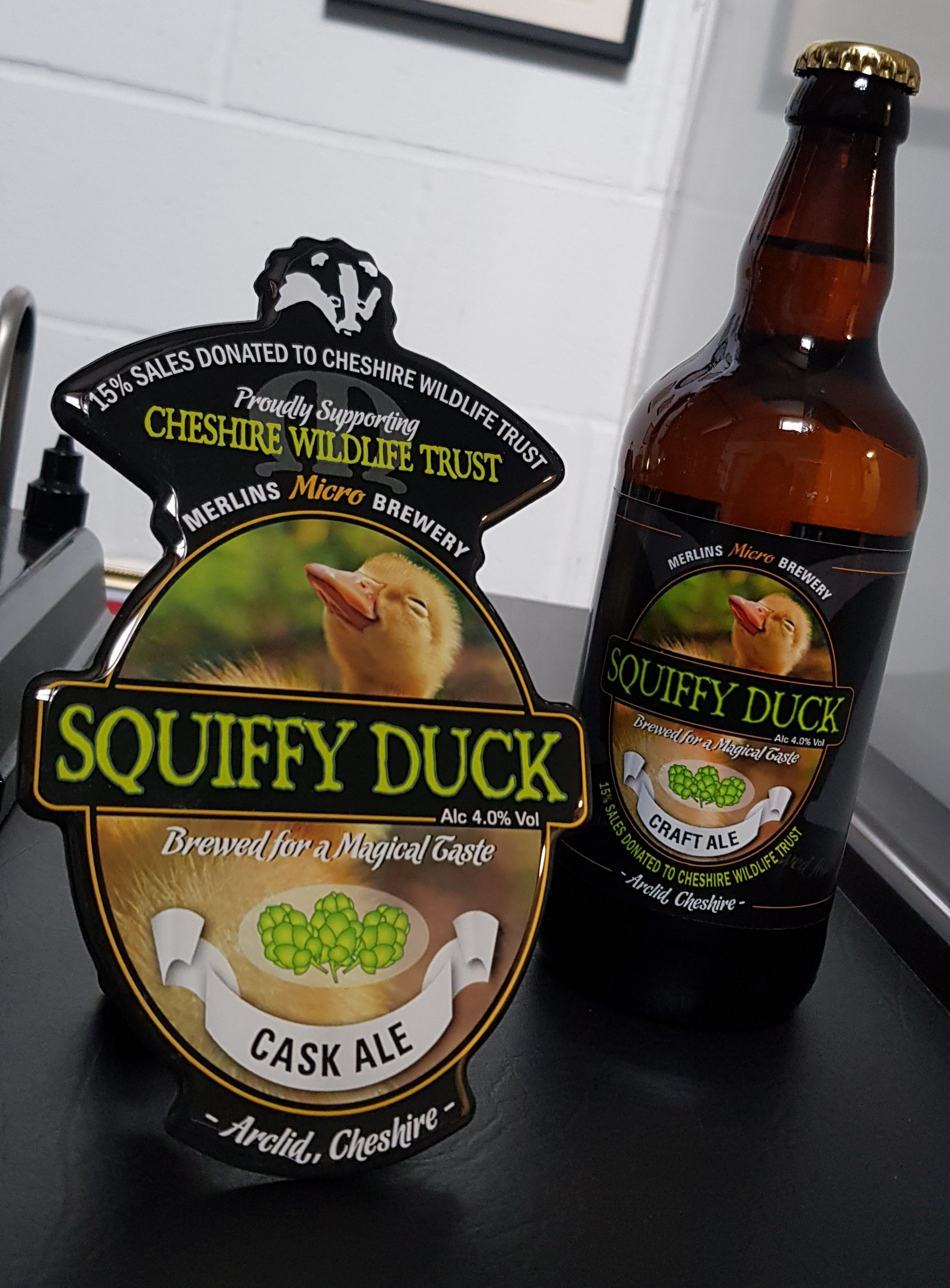 Squiffy Duck goes on sale this month to help raise cash for Cheshire Wildlife Trust