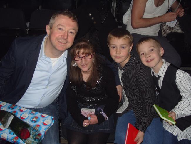 Louis Walsh with Amy and friends