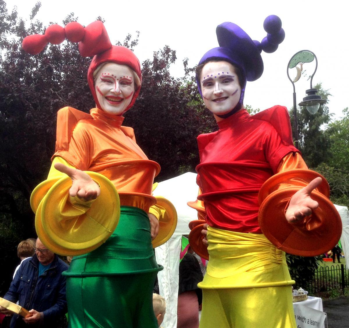 Stilt-walking entertainers Upper Level out and about during last year's Birkenhead Summer Festival. Picture: Craig Manning