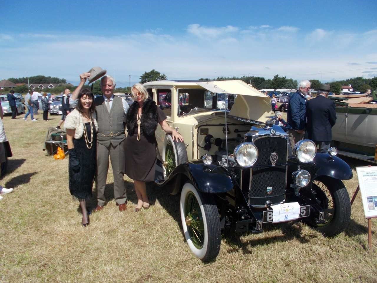 Colin Lambert, with daughter Julie and Susan Coleman from Wrexham in his 1929 Vauxhall Grosvenor during last year's rally. Pictures courtesy of Blair Percival