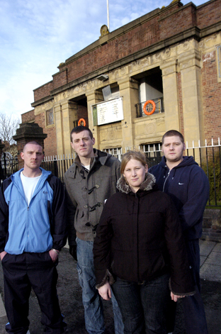 Devastated: Dave Kidd, assistant manager, Greg Beck, lifeguard, Georgina Moffat, supervisor and former manager Steve Gaines