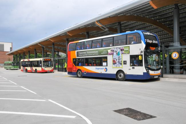 Cowap's journey began at Chester's bus interchange.