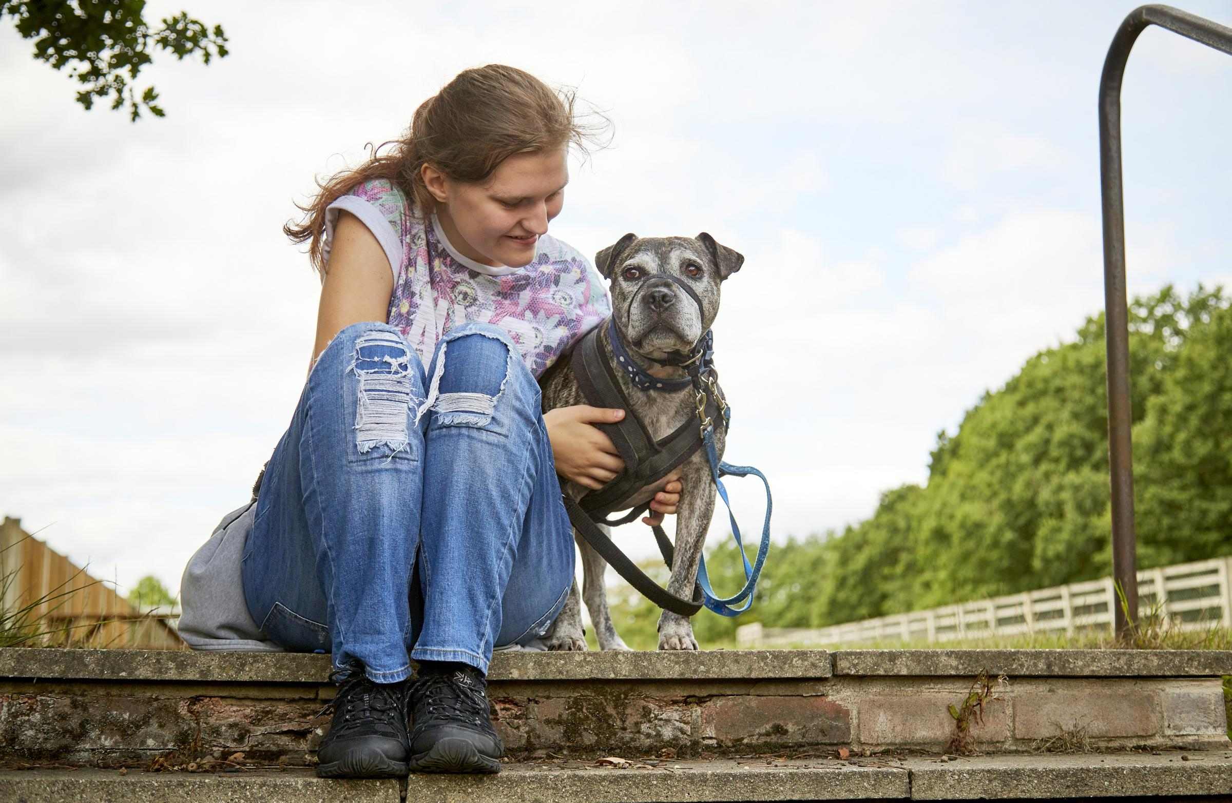 A photograph from RSPCA campaign Paws4Change