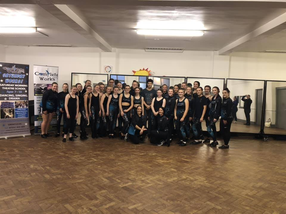 Adam Garcia visits students at Complete Works Performance School