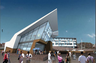 IMPRESSION: Artist's view of the hotel and sailing school scheme for West Kirby