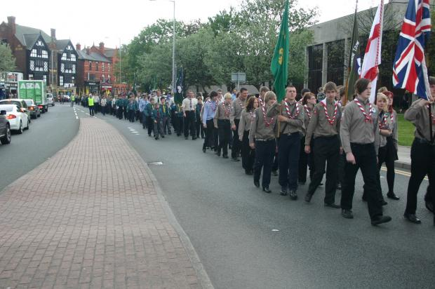 Marching through West Kirby