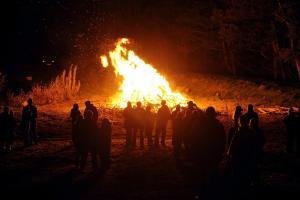 Library picture of bonfire