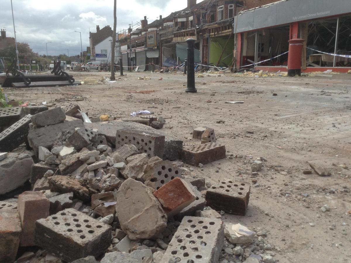 The scene of devastation in New Ferry after explosion in March last year. Picture: Craig Manning