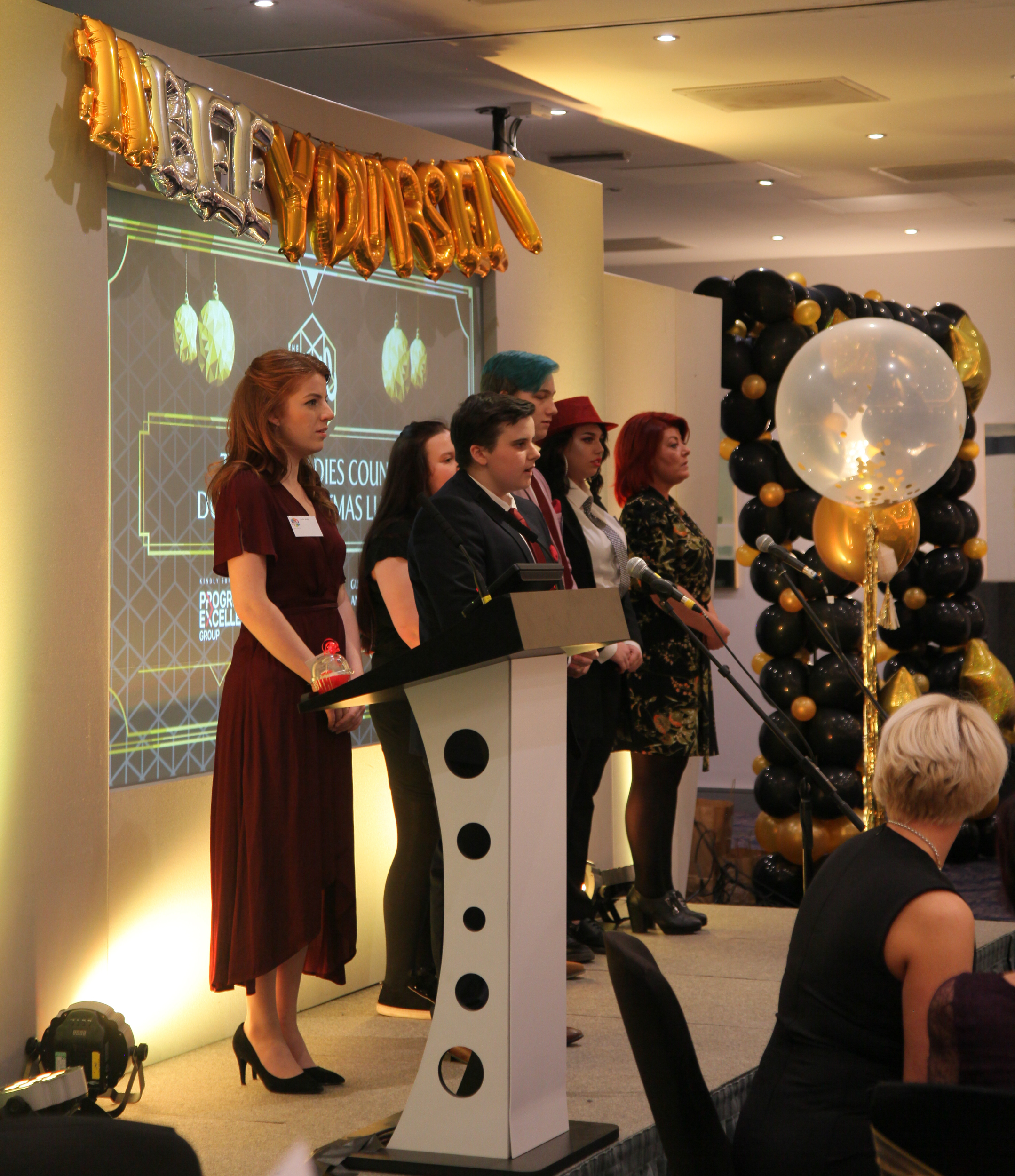 Staff and Hive Members Address the Ladies' Lunch Audience