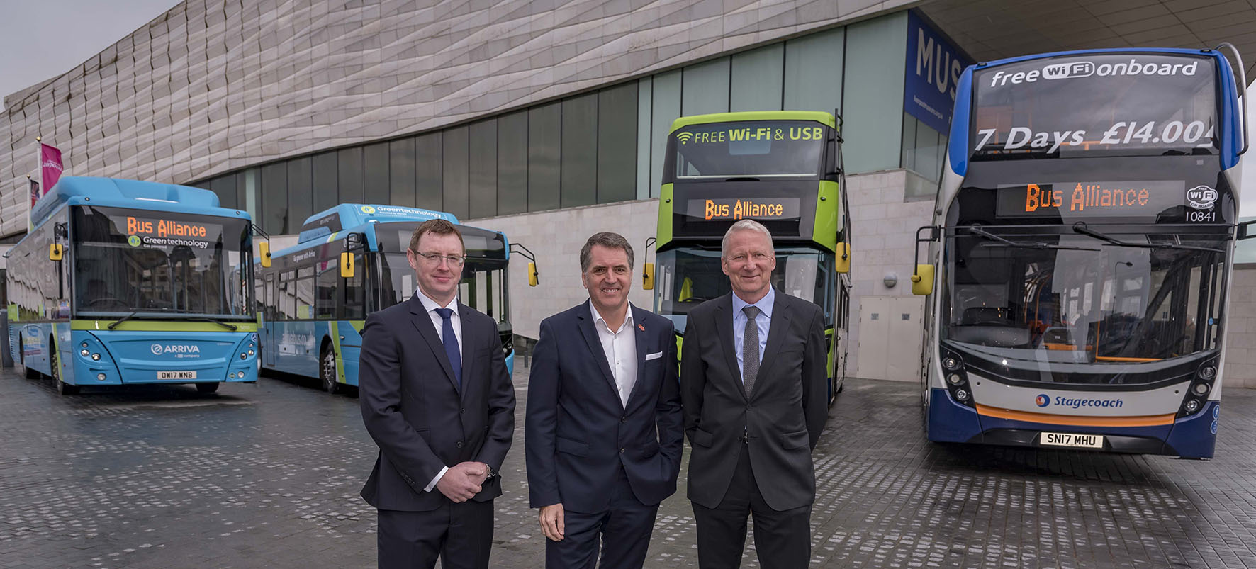 Liverpool City Bus Alliance at Mann Island. (Picture: Merseytravel)