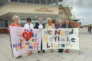 Protests followed plans to close libraries in 2008