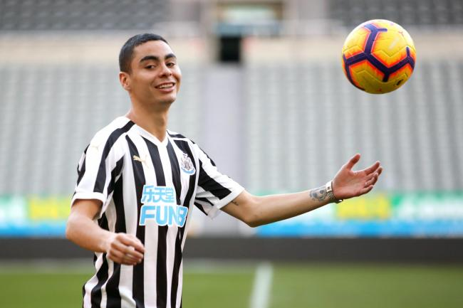 Newcastle's new signing Miguel Almiron is ready to make his debut at Wolves