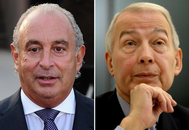 Sir Philip Green and Birkenhead MP Frank Field