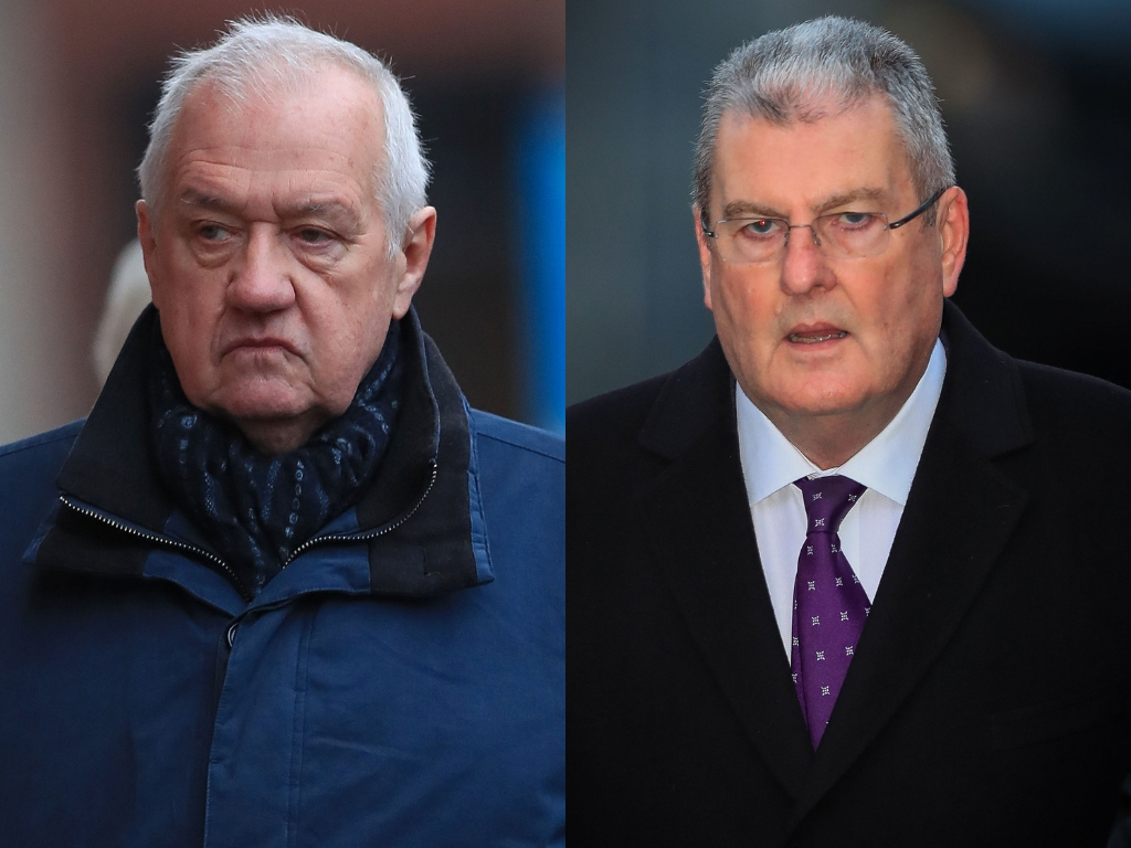 David Duckenfield and Graham Mackrell (PA WIRE)
