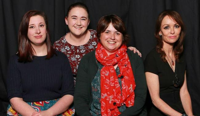Helen Jones (right) with producer Sharon Colpman, director Meg McFarlane and stage manager Catherine Ainsworth