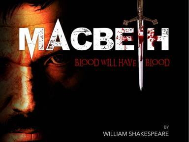 Poster for 'Macbeth' which starts a run at The Epstein Theatre in Liverpool this week