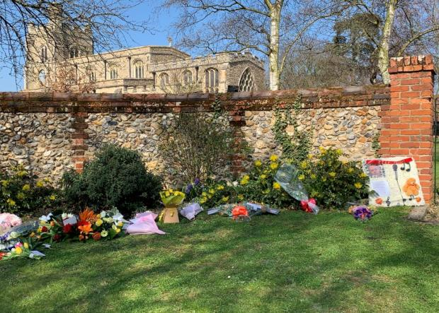 Wirral Globe:  Fans have been laying flowers outside the church
