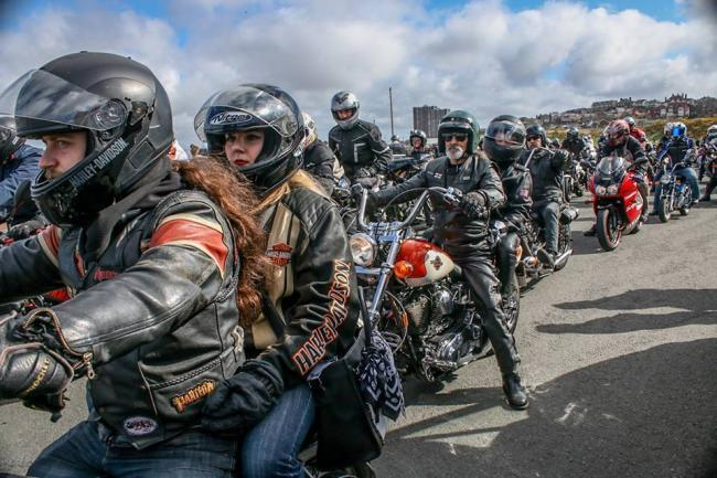 Scene from 2018 Egg Run tribute ride out. Picture: Wendy Graham