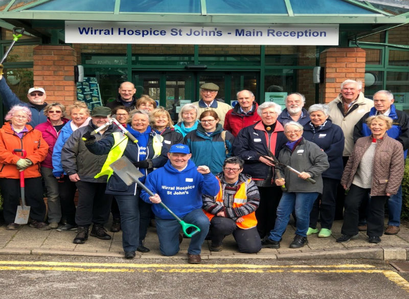 Wirral Hospice St John's 'Big-Dig' garden project begins