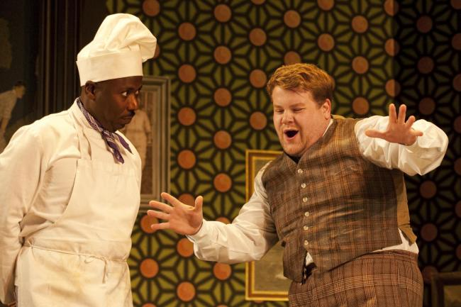 TV host James corden on stage in One Man, Two Guvnors. Picture: Johan Persson