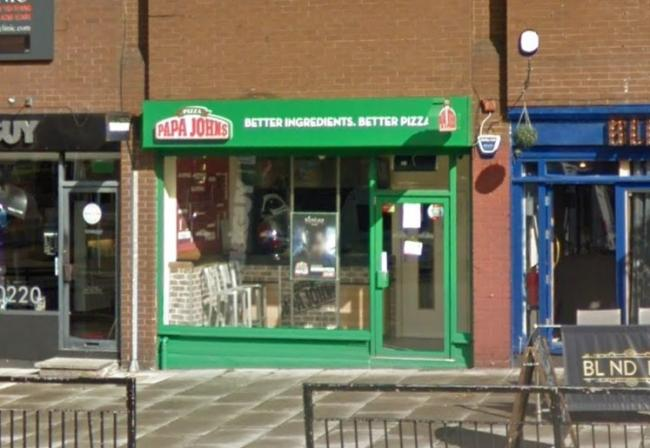 Papa Johns Close Heswall Branch Wirral Globe