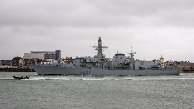 HMS Northumberland in Portsmouth (Sam Bannister)