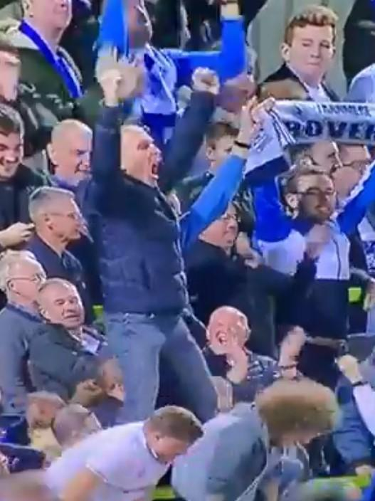 One fan steals the headlines celebrating Tranmere's win