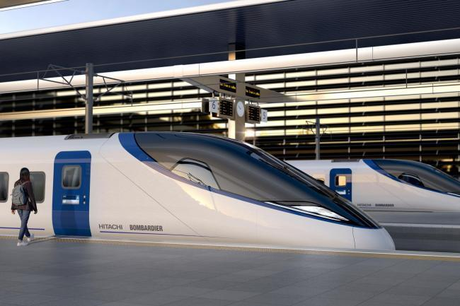 Bombardier and Hitachi's design for the new trains for HS2