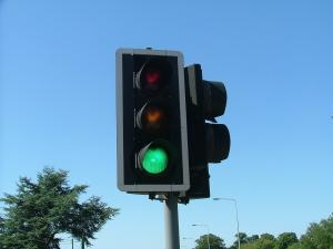Library picture of traffic lights