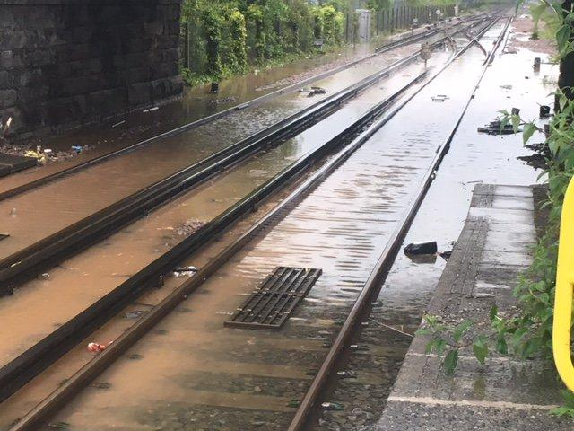 Disruption on Ellesmere Port and Chester bound services due to flooding on the tracks at Hooton (Merseyrail)