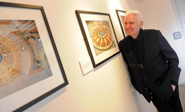 Mike McCartney pictured at his Luvs exhibition at St George's Hall (Picture: Paul Heaps)