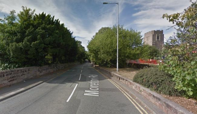 On arrival paramedics found a woman, in her early 70s, trapped inside the car on Moreton Road (Google Maps)