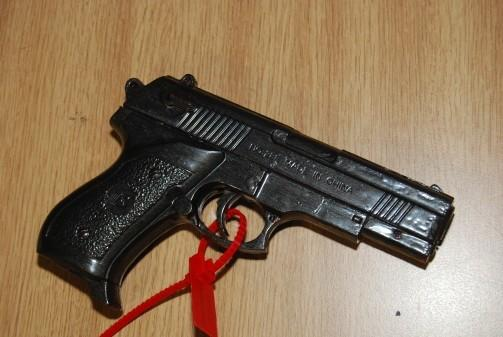 The imitation handgun seized by police officers (Merseyside Police)