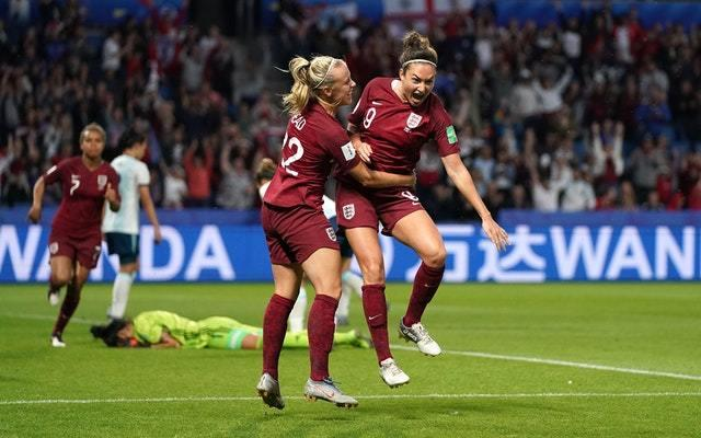 Jodie Taylor (right) was England's match-winner against Argentina (John Walton/PA)